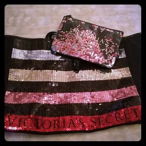 Victoria's Secret Sequin Tote & Purse